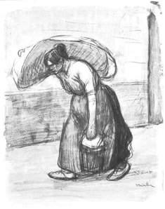 By Steinlen, T. A. - Laundrywoman