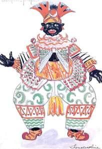 By Soudeikine, Sergey - Ethiopian figure costume