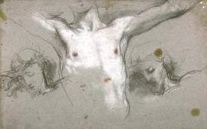 By Barocci,  F. - Studies for a crucifixion