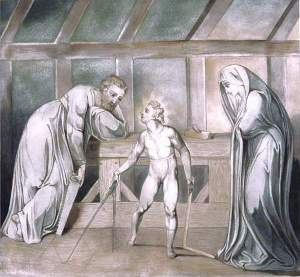 By Blake - Jesus at his home with his parents