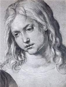 By Dürer - Head of young Christ