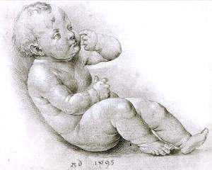 By Dürer - Study of the Christ child