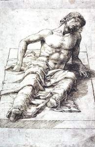 By Mantegna, A. -  Study for a liyng Christ