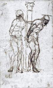 By Mantegna, A. - Two sketches of whipped Christ
