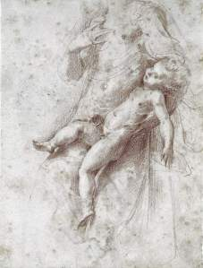By Parmigianino - Jesus child and the Madonna