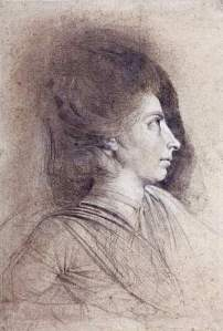 By Fuseli - Portrait of a lady seen in profile