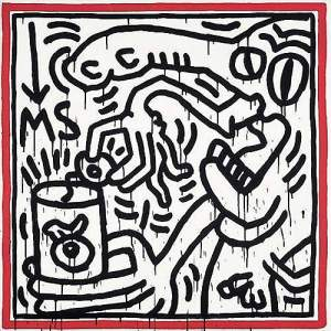By Haring, K. - Portrait of Elliot