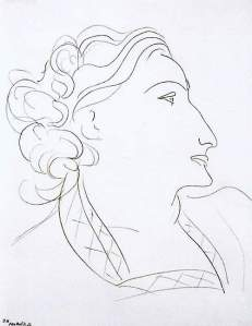 By Matisse - Profile of a woman