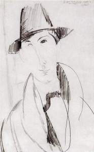 By Modigliani, A. - Mario the musician