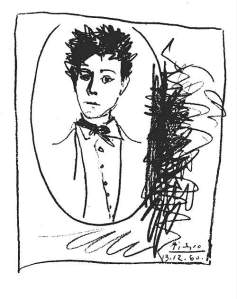 By Picasso - Portrait of Arthur Rimbaud