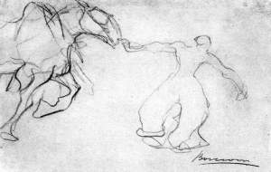 By Boccioni - An equestrian sketch