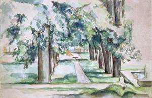 By Cézanne - Grove of  the manor of  Cézanne family