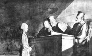 By Daumier - The little girl testifies before the judge