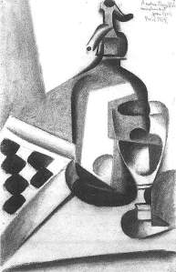 By Gris, Juan - Dedicated  Still life with of a seltz water dispenser