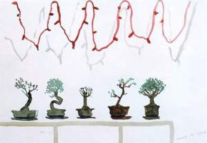 By Hockney - The bonsai composition