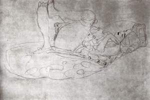 By Klimt - Lying woman