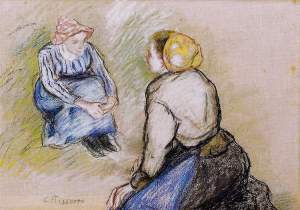 By Pissarro - Seated country women