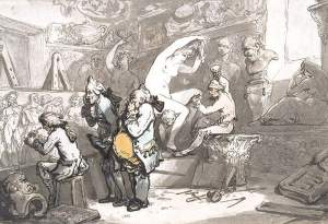 By Rowlandson - The carver's workshop