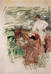 By Toulouse-Lautrec - At the hippodrome