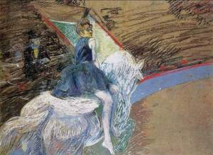 By Toulouse-Lautrec - The equestrienne riding