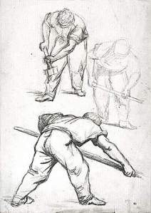 By Vernier, Emile L. - Sketches on a laborer