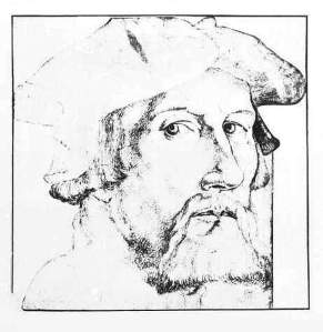 By Baldung, Hans  - Self-portrait with a beret