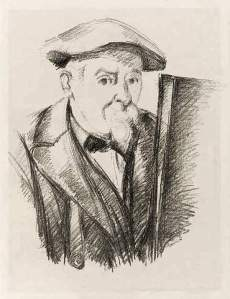 By Cézanne - The artist seen by himself wearing a beret and a bow-tie