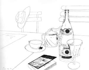 By Hockney - Still-life with a bottle of Vichy water
