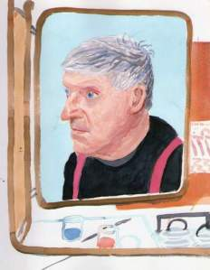 By Hockney - The artist seen by himself wearing braces