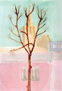 By Hockney - Tree in winter