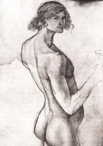 By Horny, Franz  - Self-portrait nude