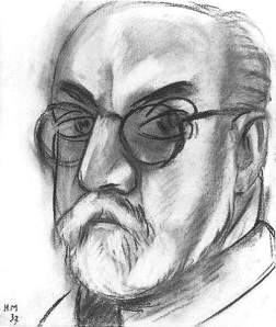 By Matisse - The artist seen by himself wearing glasses