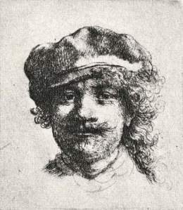By Rembrandt - Self-portrait with tired eyes