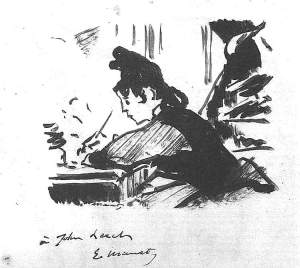 By Manet - A woman writing