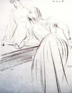 By Helleu - Two women playing pool