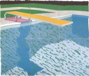 By Hockney - The springboard of the pool