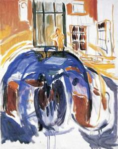 By Munch - The artist seen by himself while he was sickly of vision
