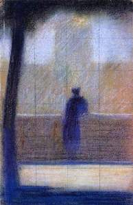 By Seurat - Observer next to a fence seen from behind