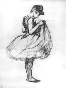 By Toulouse-Lautrec - Young ballet dancer while she raise up her tutu