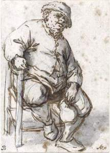 By Van Ostade - Seated man