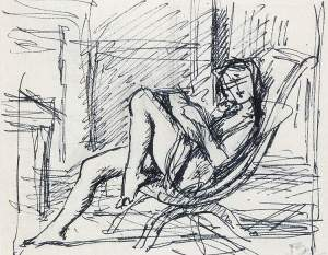 By Balthus - Reader on the armchair
