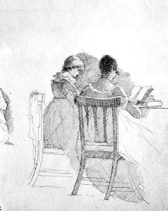 By Harden, John - Two women looking at a book