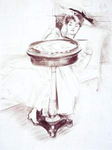 By Helleu - A reader on a divan