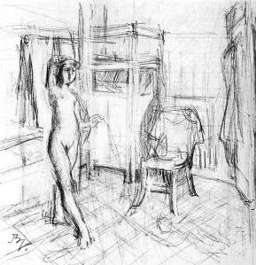By Balthus - In the bathroom