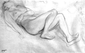 By Degas - A reclining girl