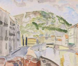 By Heckel, E.- View of a channel