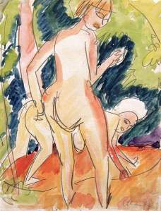 By Kirchner - Two female nudes in the countryside