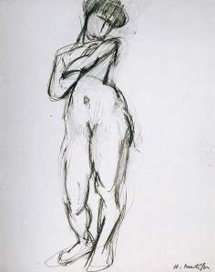 By Matisse - Study of standing sitter