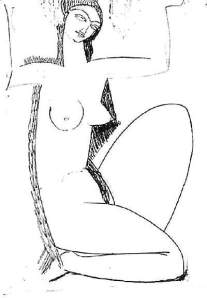 By Modigliani - Caryatid