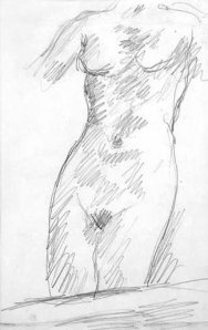 By Bonnard, Pierre. - Front view of a naked girl